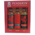 Penderyn Single Malt Whisky Triple pack (3 x 20cl)