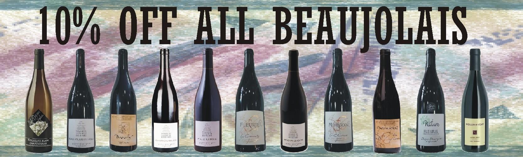 10% off Beaujolais Wine