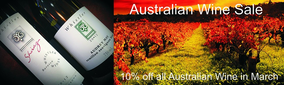 Get 10% off any Australian wine in March