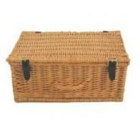 "Empty 14"" Wicker Hamper Basket"