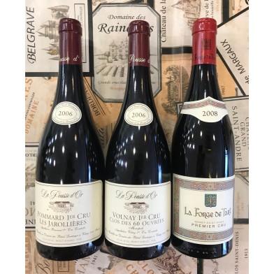Trio of Premier Cru Red Burgundies from Single Vineyard