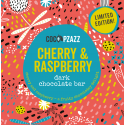 Coco Pzazz Cherry & Raspberry Dark Chocolate Bar (80g)