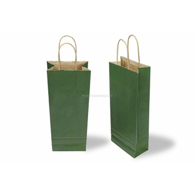 Green Wine Gift Bag