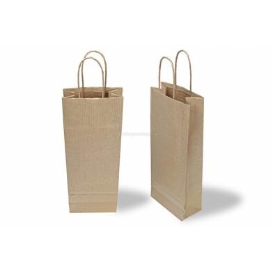 Brown Wine Gift Bag