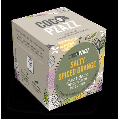 Coco Pzazz Giant Dark Chocolate Buttons - Salty Spiced Orange (96g)