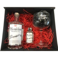 Mumbles Gin 70cl Bottle & 10cl Bottle with Glass in Gift Box