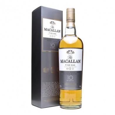 """The Macallan 10 Year Old """"Fine Oak"""" Whisky (70cl)"""