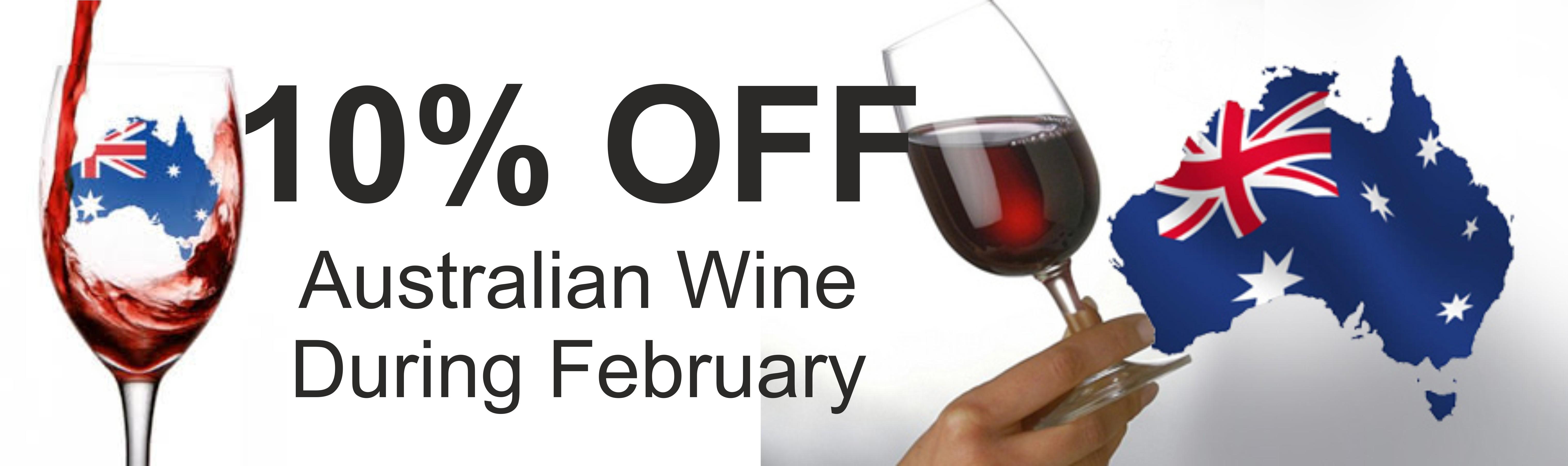 10 % off Australian Wine